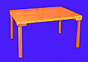 "24x36"" Solid Hardwood Table F-102-T36"